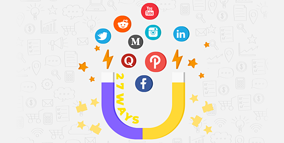 26 ways to drive taffice from 9 top social media platforms