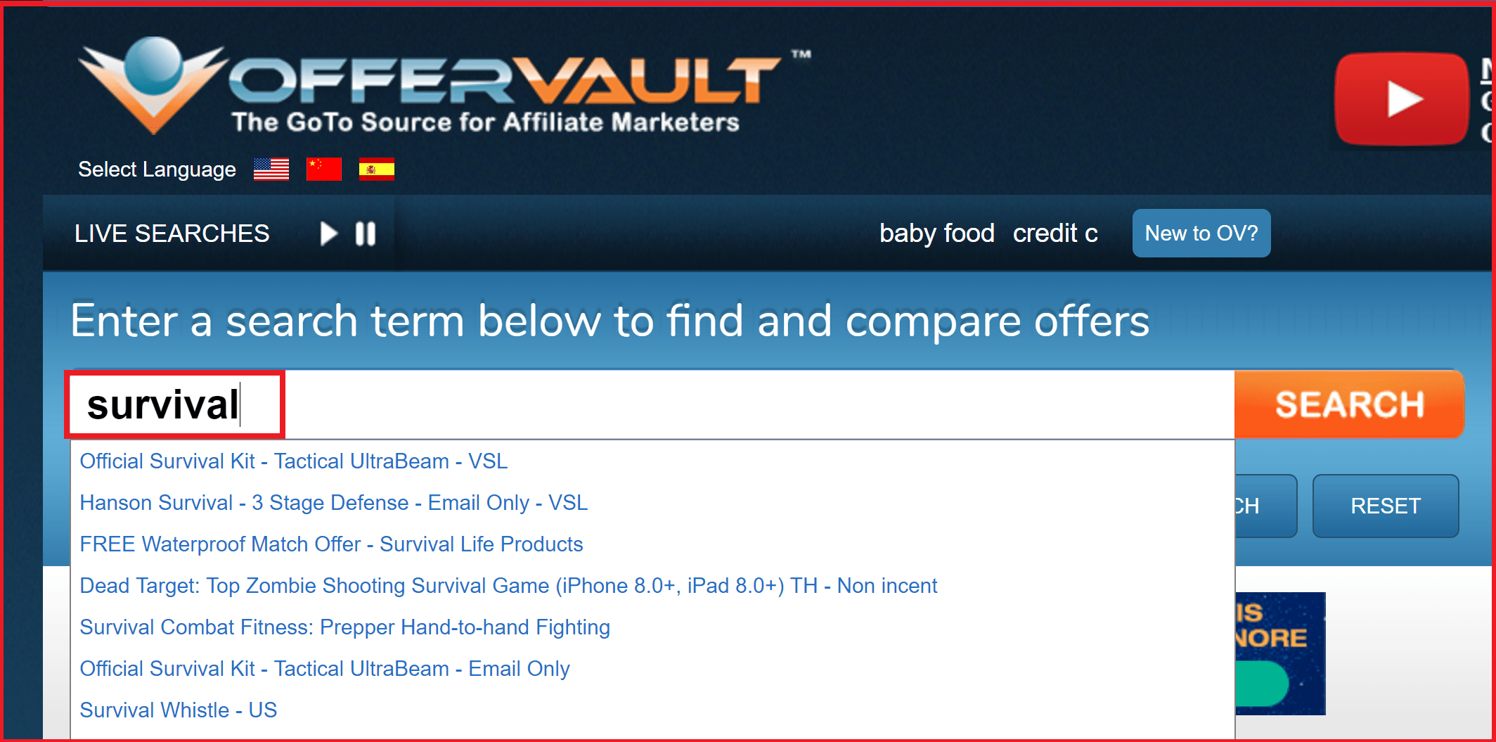 OfferVault affiliate offers and digital products