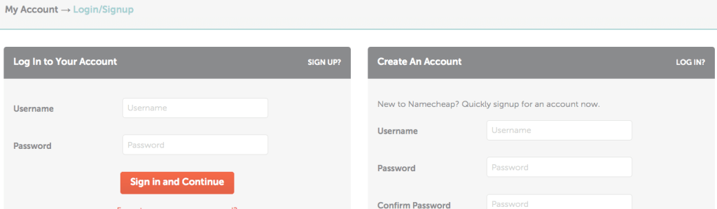 namecheap account