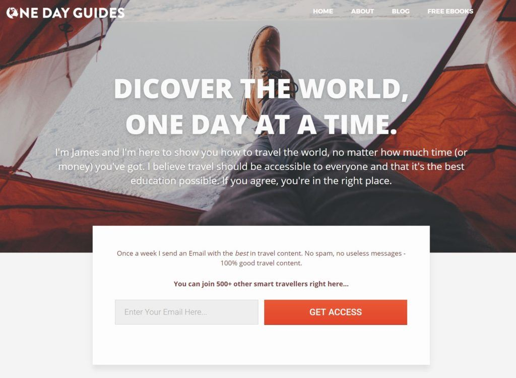 one day guides home page