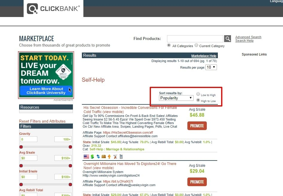 clickbank affilaite products2