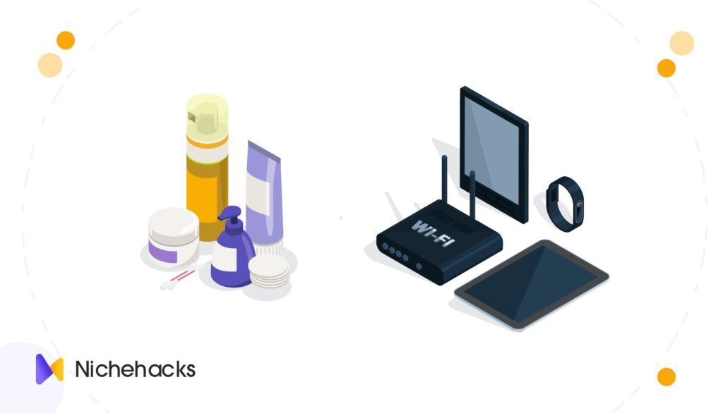 best selling products in beauty or health versus technology