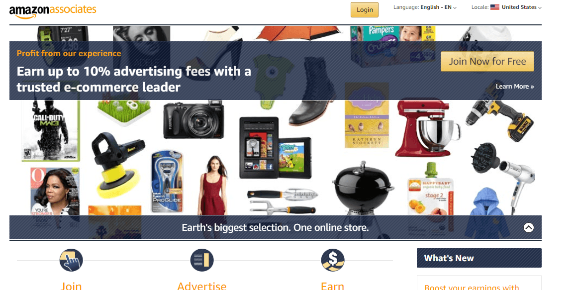 Best Affiliate Marketing Program: Amazon Associates