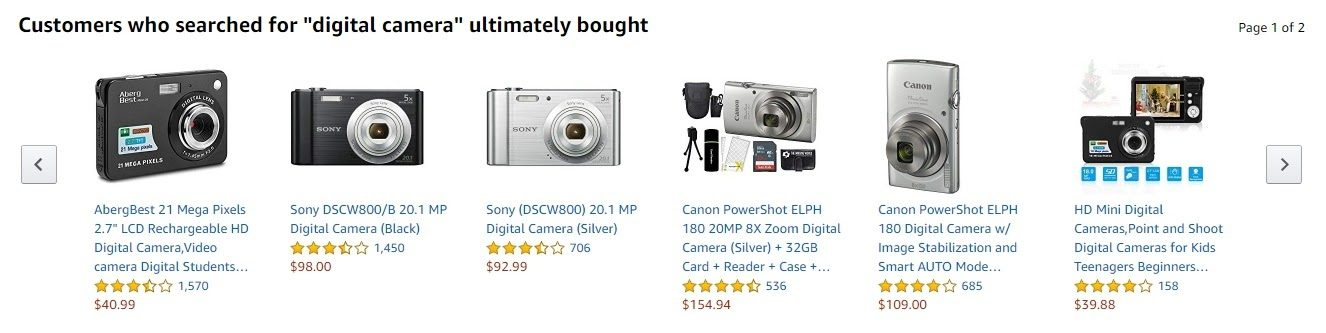 amazon product page related products 2